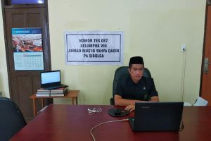 Ketua Pengadilan Agama Sibolga sedang mengikuti ujian Fit and Proper Test